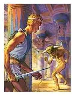 thesis and the minotaur story 2014-08-13  theseus and the minotaur according to legend, king minos ruled athens and forced the athenians to deliver seven youths and seven maidens every nine years they became prey of the minotaur in the labyrinth, and athens escaped.